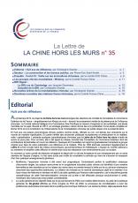 LA LETTRE DE LA CHINE HORS LES MURS N°35