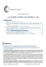 LA LETTRE DE LA CHINE HORS LES MURS N°36