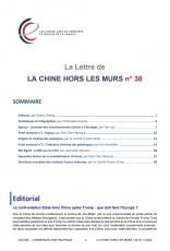 LA LETTRE DE LA CHINE HORS LES MURS N°38